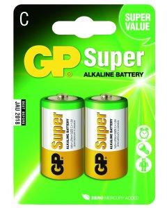 Blister de 2 piles Alcalines SUPER C,LR14