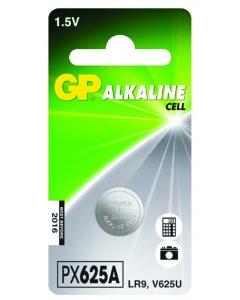 Blister de 1 pile bouton alcaline 625A 1,5V,LR9,V625U