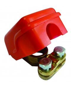 Cosse rapide laiton rouge (+)