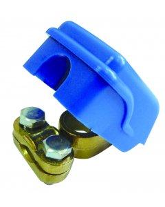 Cosse rapide laiton bleu (-)