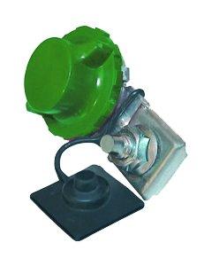 Robinet coupe-batterie à griffe vert (-)