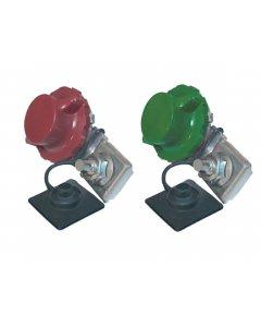 Kit de 2 robinets coupe-batterie à griffe rouge (+) et vert (-)