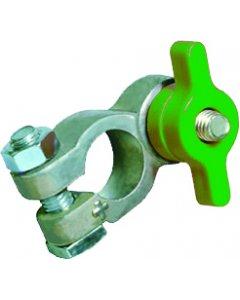 Robinet coupe-batterie en plastique vert (-)