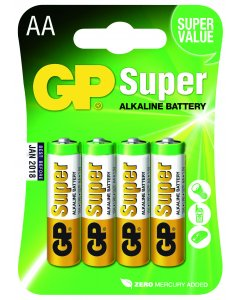 Blister de 4 piles Alcalines SUPER AA,LR06