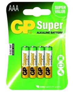 Blister de 4 Piles Alcalines SUPER AAA,LR03